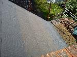Branta delen av taket